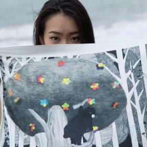 Forest Silk Scarf (森シルクスカーフ)